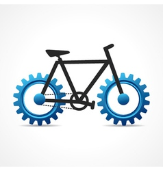 Bicycle with cog wheel vector