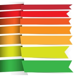 Colored ribbons for your design vector image