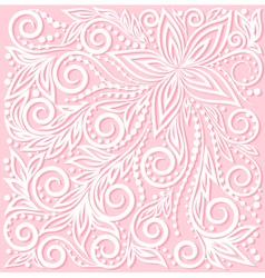 Floral pattern a design element in wedding style vector