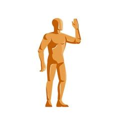mannequin human anatomy standing retro vector image