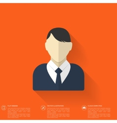 Flat male avatar user profile icon business vector