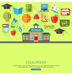 School and education concept background with place vector