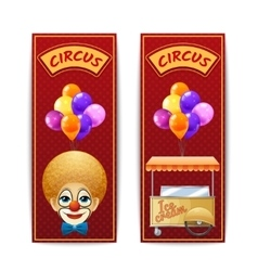 Two vertical circus banners vector