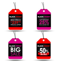 Tags black friday sale vector