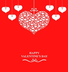 Valentine label red vector