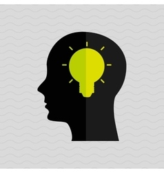 Thought concept design vector