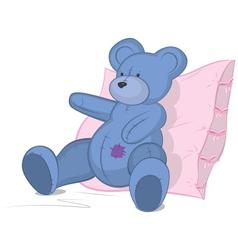 Blue Teddy bear vector image