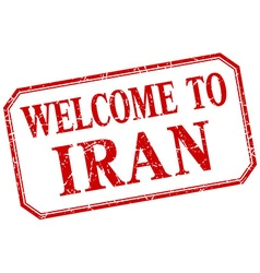 Iran - welcome red vintage isolated label vector