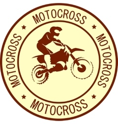 Motorcycle sign background vector image