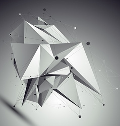 Abstract asymmetric black and white object with vector