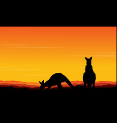 Art kangaroo beauty scenery vector