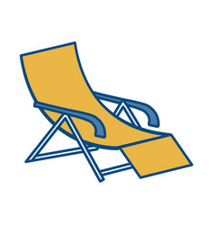 Beach chair icon vector