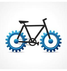 Bicycle with cog wheel vector image
