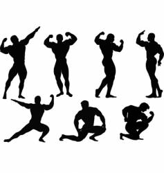 Bodybuilding men vector