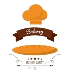 Bread chefs hat bakery food icon graphic vector