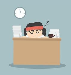 businessman falling asleep vector image