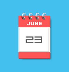 calendar icon flat art vector image