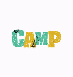 Camp concept colorful stamped word vector