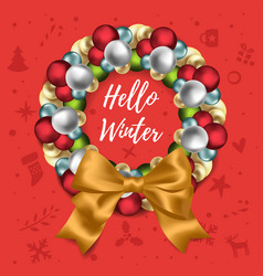 Christmas and new year wreath vector