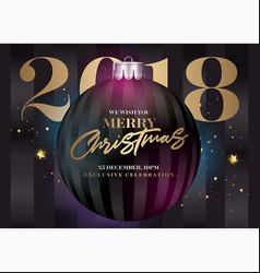 christmas greeting card holiday elegant vector image vector image