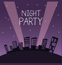 City night party vector