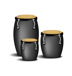 congas band in black design with shadow vector image