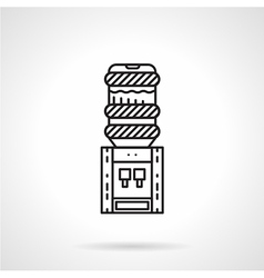 Flat line electric water cooler icon vector