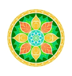 Flower mandala dreamcatcher style ethnic vector
