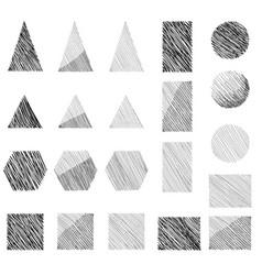 geometric shape doodle sign set geometric figure vector image vector image