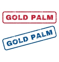Gold Palm Rubber Stamps vector image vector image