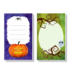 halloween card templates3 vector image vector image