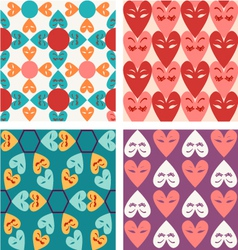 hearts pattern Valentine vector image