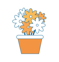 Isolated cute flowers vector