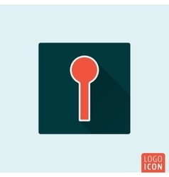 Keyhole icon isolated vector image