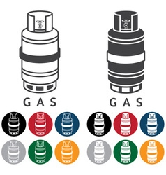 Liquid propane gas and web icons vector