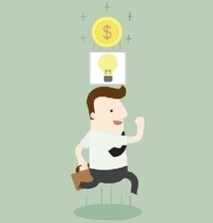 Money think vector image vector image