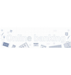 online banking internet electronic payment banner vector image