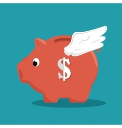Save the money piggy with wings vector