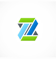 shape infinity colored logo vector image