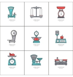 Trading scales set vector