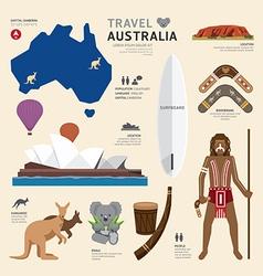 Travel Concept Australia Landmark Flat Icons vector image vector image