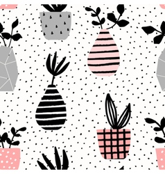 Vases and Pots Seamless Pattern vector image