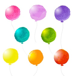 Watercolor Balloons Set vector image