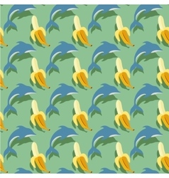 dolphins and bananas vector image