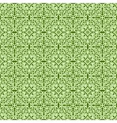 Decorative green pattern vector image