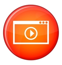 Program for video playback icon flat style vector image