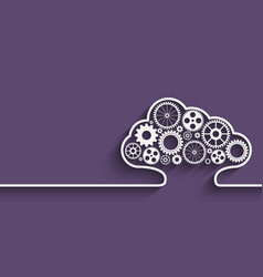 cloud computing gears vector image