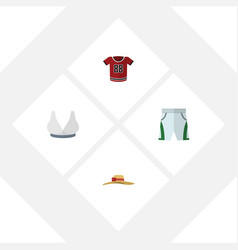 Flat clothes set of brasserie t-shirt elegant vector