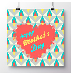 Greeting card-happy mothers day 1 vector