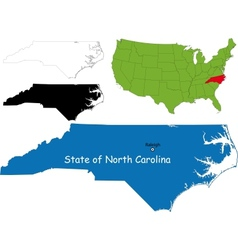 North carolina map vector